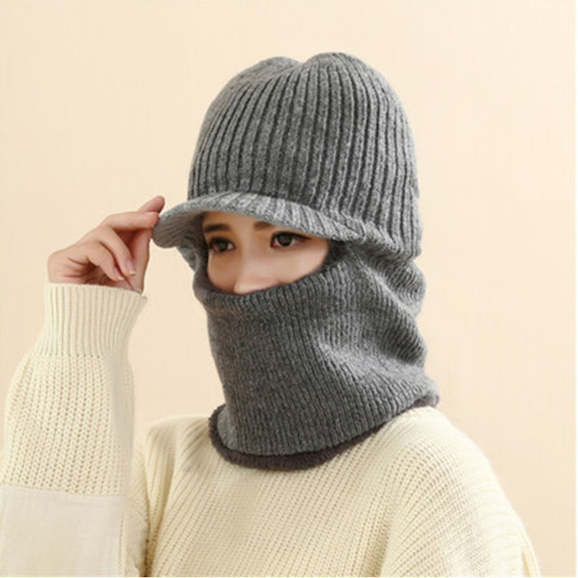Face Mask Ski Balaclava Winter Hats For Women and Men Windproof Moto Fur Winter Beanie With Neck Warmer Fleece Lined Bivakmuts