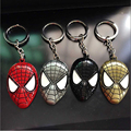 NEW High quality Marvel Super Hero Spiderman Mask Alloy Key Chains The AvengersThe Amazing Metal Key Ring Pendant Charm Keychain