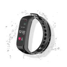 L30T Bluetooth smart Сердечного ритма Мониторы Шагомер сна Фитнес трекер полноцветный OLED Экран smartband для IOS Android