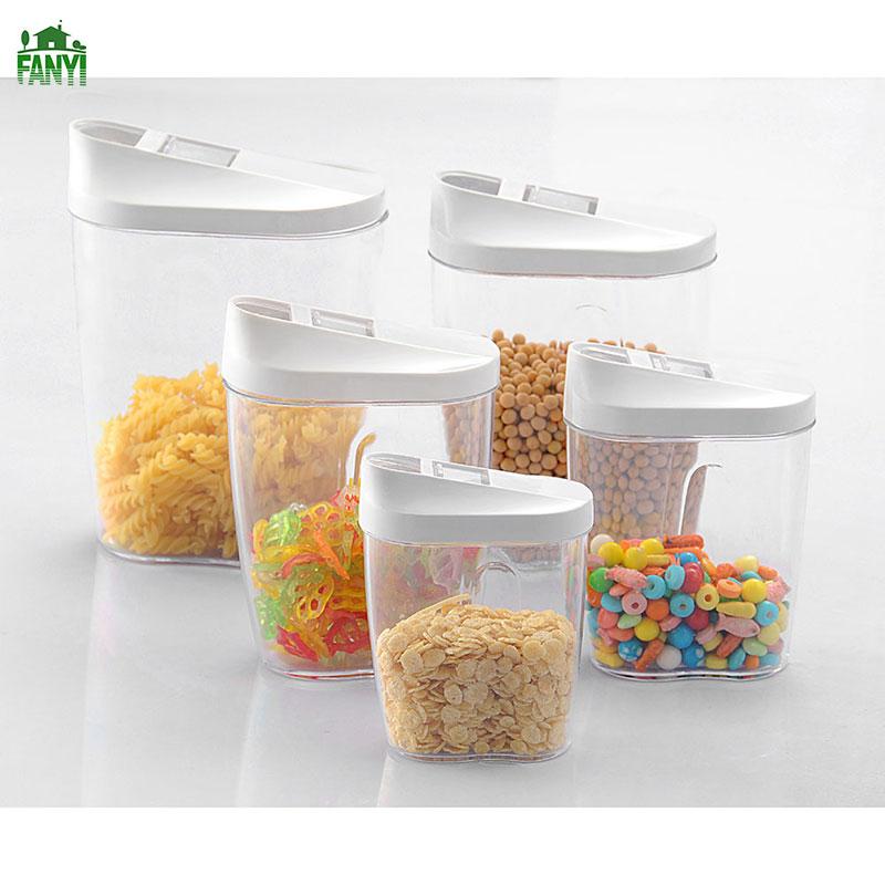 FANYI 5pcs Irregular Plastic Storage Tank Plastic Bottles Daily Dried Fruit Storage Box Gift Set for