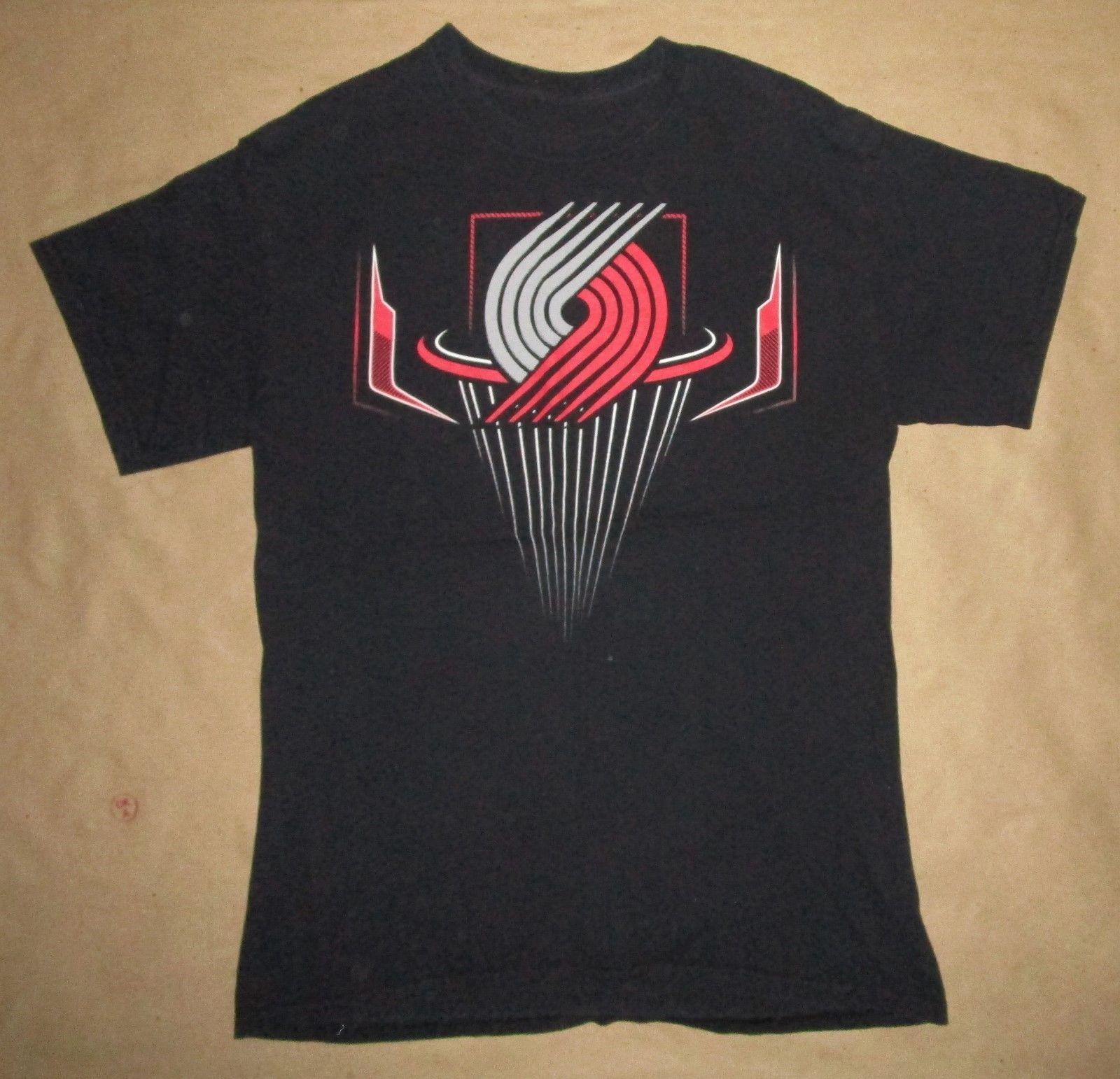 MED Damon Lillarder T Shirt Portland Trailblazerss #0 ...