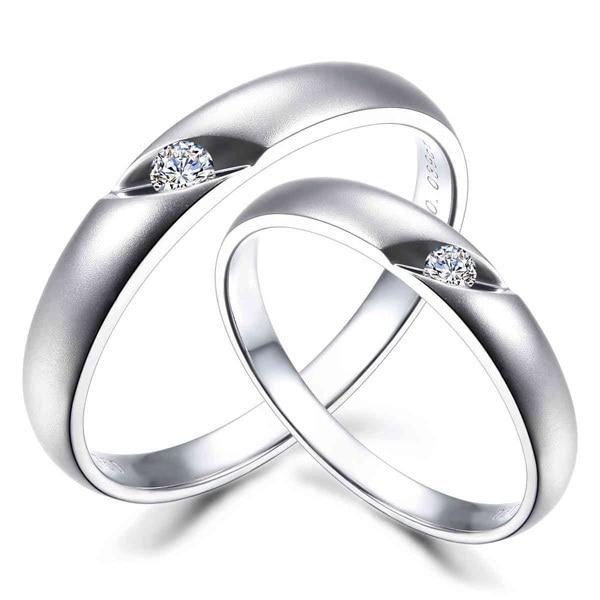 aliexpress com fashion genuine 18k solid white gold couple