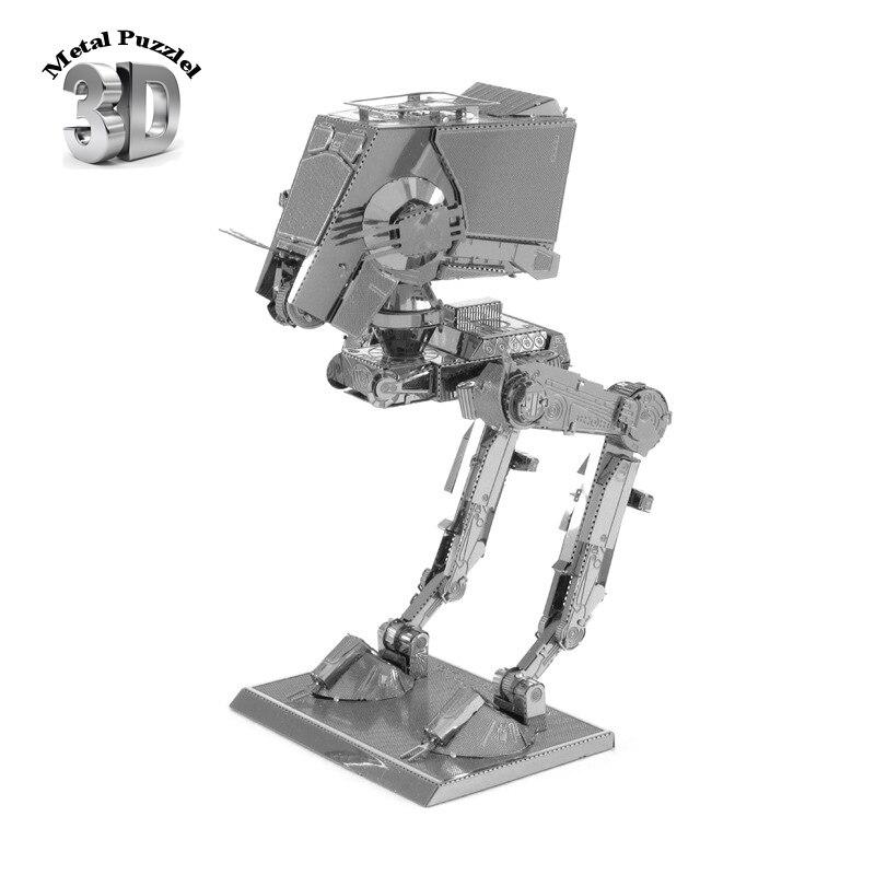 3D Metal Puzzles Miniature Model DIY Jigsaws Science Fiction Model Silver Gift Science Fiction Star Wars ATST