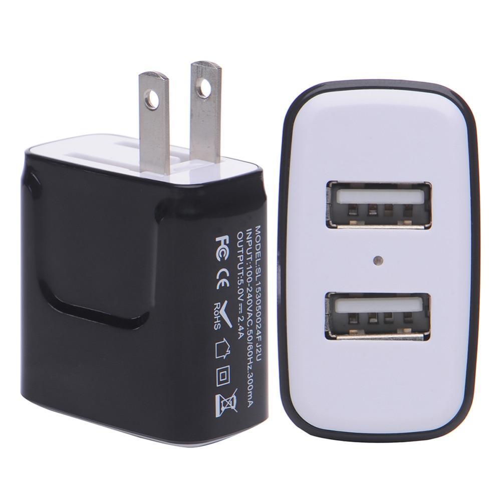 Oplader til telefonoplader 3.1A Dual USB-portvæg Hjemrejse - Mobiltelefon tilbehør og reparation dele - Foto 4