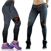 Superman 3D Printed Women Leggings Casual Fitness Sexy Workout Leggings