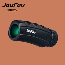 Wholesale JouFou 10X25 Hunting Binoculars Monocular Zoom Power High Quality Telescope for Outdoor Camping Travel