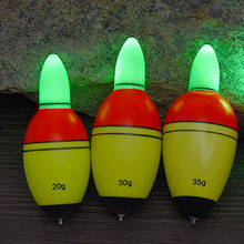 4PCS/Lot LEO EVA 20g,30g,35g,40g  Fish Float LED Light Button Battery Weight Water Resistance For Outdoor Fishing