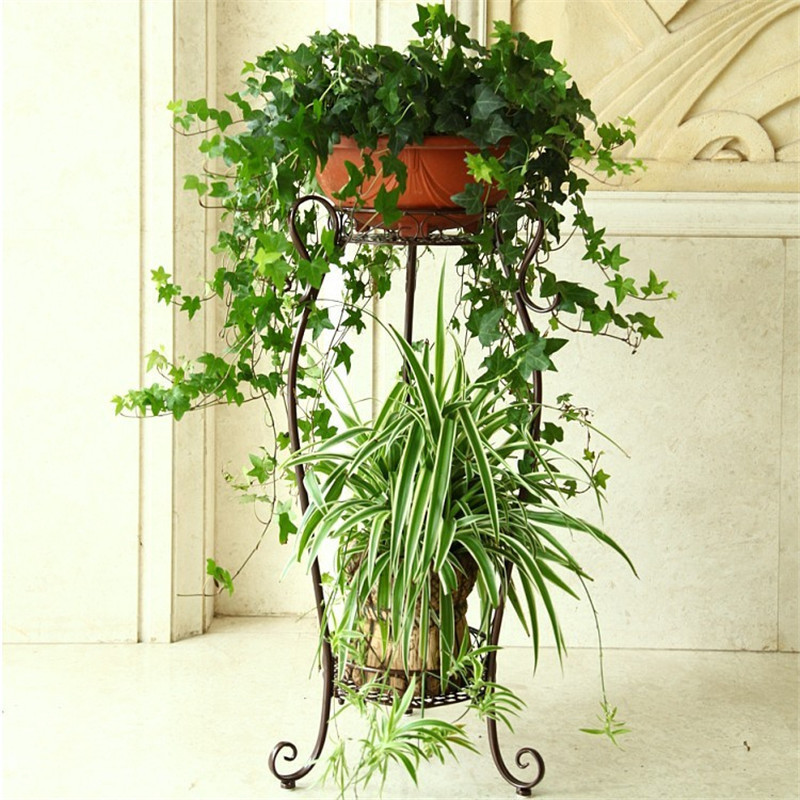 iron living room multifunctional indoor European style modern plants green flower shelf flowerpot rack decoration shelves lang qing court iron creative flower green dill multilayer wooden living room interior floor spider showy flower pots