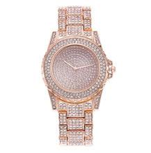 цены woman watch 2019 luxury brand Diamond crystal rose gold Wrist watches for women fashion quartz watch ladies clock bayan saat