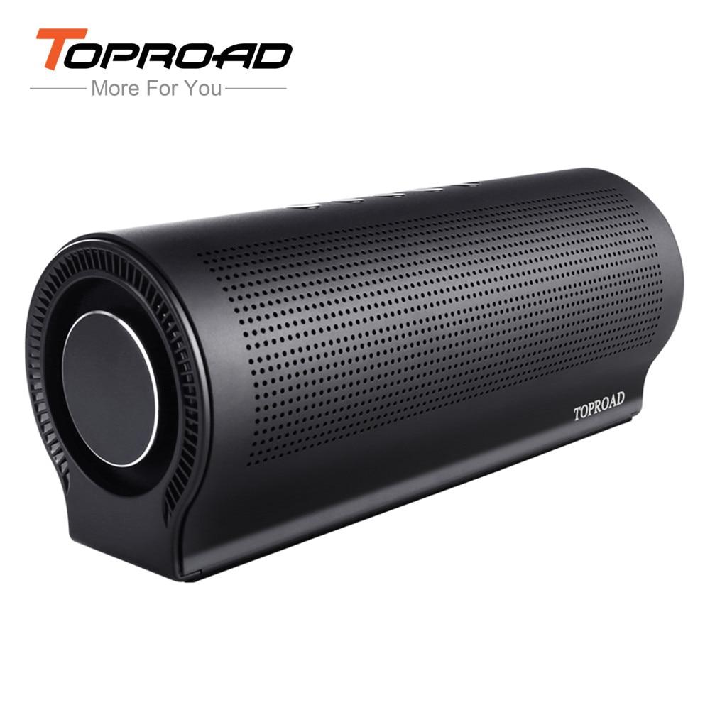 TOPROAD 18w Soundbar Hifi Bluetooth Speaker Shocking Bass Home Party Speaker Wireless Stereo caixa de som