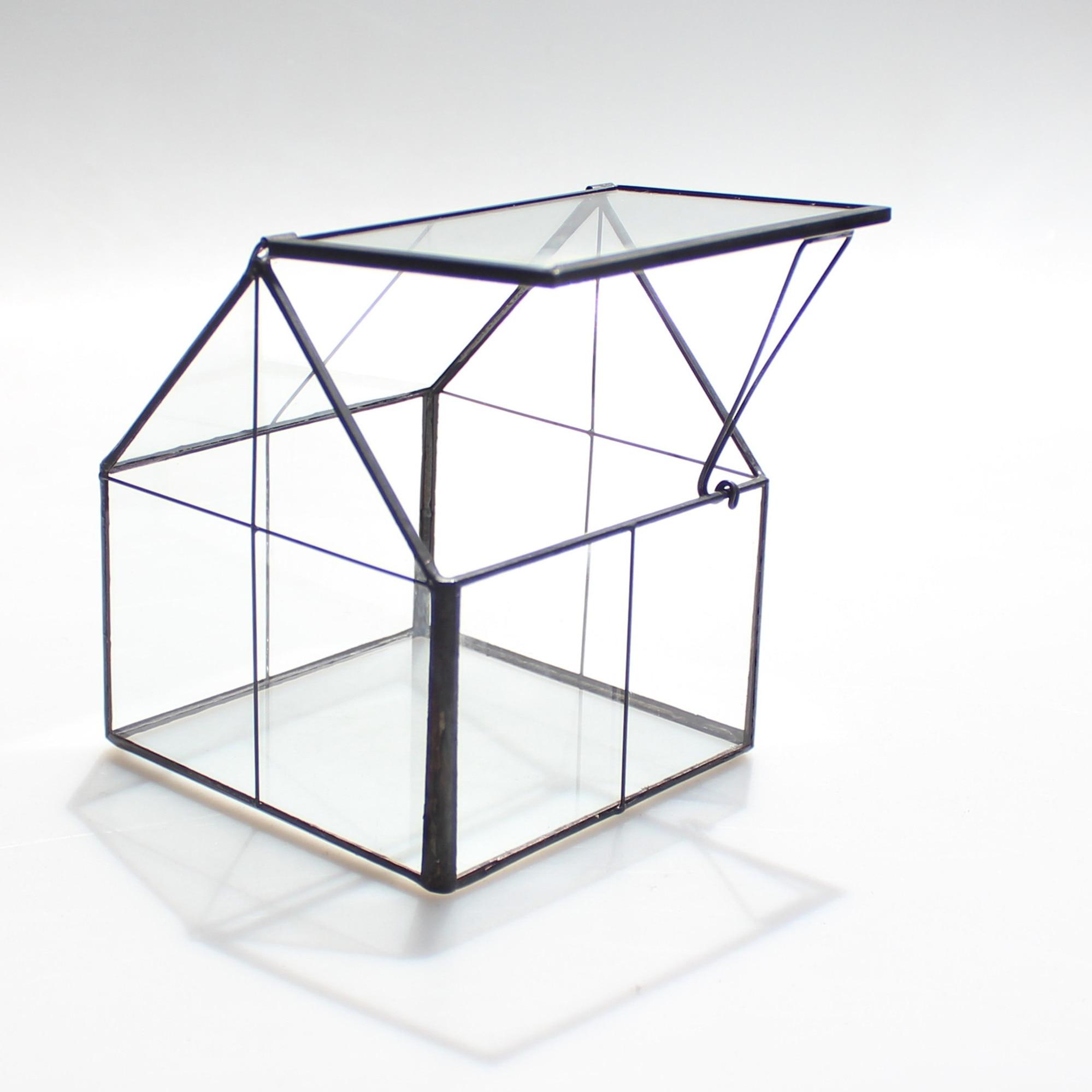 Ncyp Modern Glass Terrarium Black Copper Tabletop Geometric Terrarium Grid Pattern Floor Vase Home Decoration Accessories Vases Aliexpress