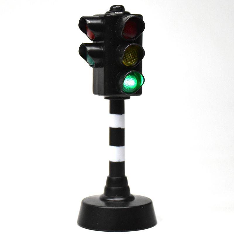 Traffic Light Toy Educational Mini Electric Train Toy Flashing Model Kids Traffic Lights Railway Brinquedos Traffic Light Toy