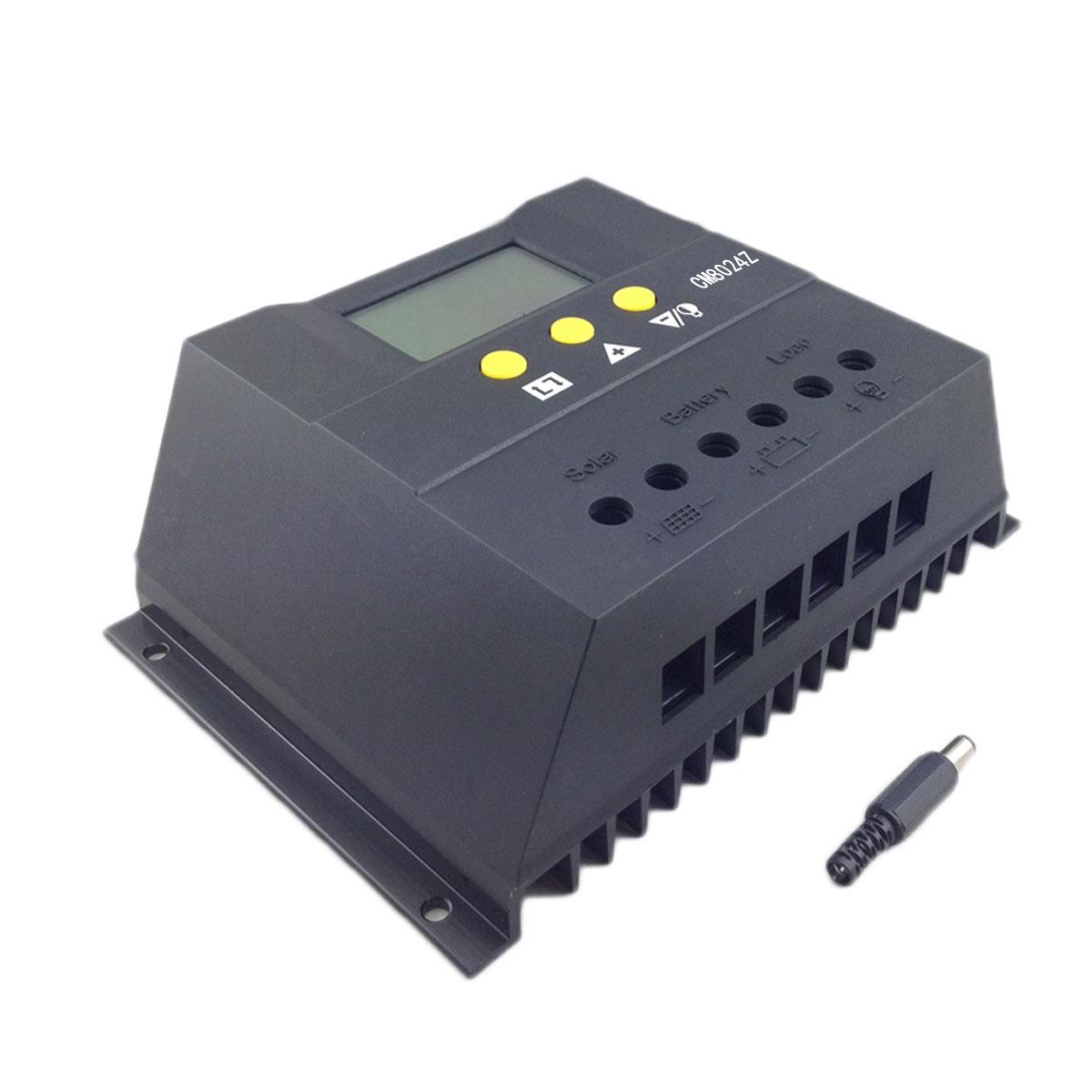 цена на 12V/24V 80A Solar Charge Controller PWM DC LCD Screen Battery Charger Regulator