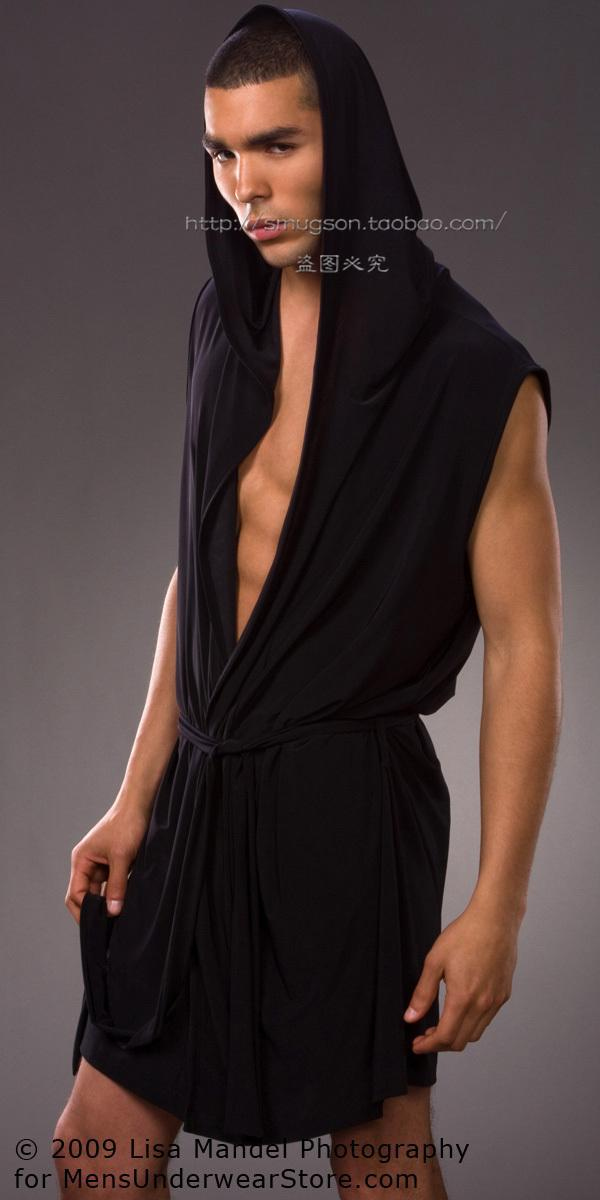 New N2N men robe high quality solid color silk robe men sexy lace mens  short robes summer hot style Free Shipping-in Robes from Underwear    Sleepwears on ... b18842384