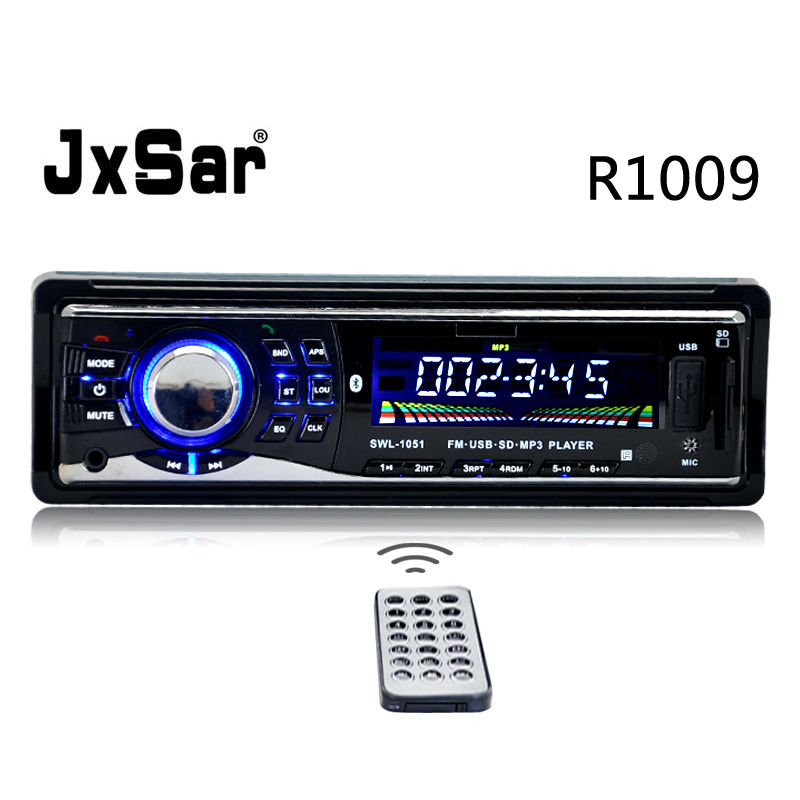 Stereo Car Radio 12v 1 DIN MP3 Player Bluetooth Hands free calls Music Support SD MMC