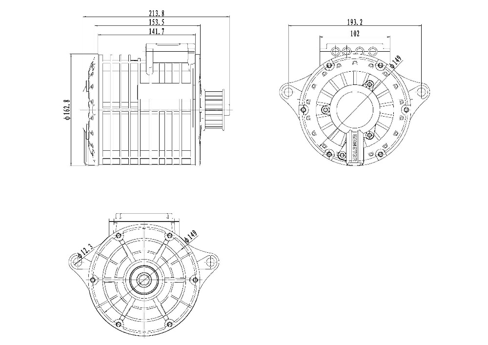 Drawing for V2 138 mid drive motor