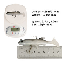 Goture 5pcs/lot Grey Soft Lure 8.5cm 13g Wobblers Artificial Bait Silicone Fishing Lures Sea Bass Carp Fishing Lead Fish Jig