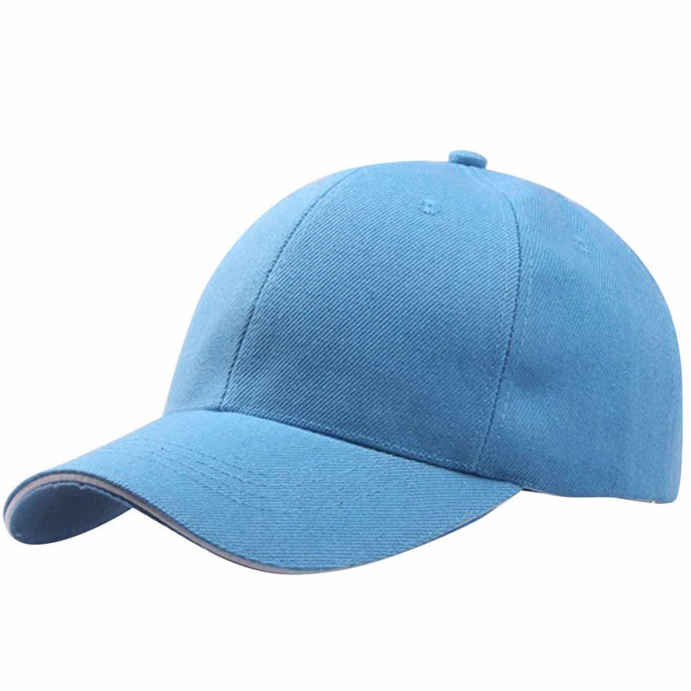 Boné de beisebol chapéu snapback chapéu de verão cor sólida moda hip-hop ajustável