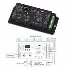 디지털 디스플레이 xlr3 및 rj45 포트 led dmx512 디코더 컨트롤러와 2 pcs 12 36 v 4 채널 pwm 정전압 dmx 디코더