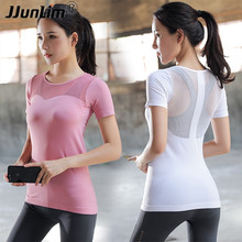 2e0be55d0726 JJunLiM Yoga Shirt Summer Running Tight Thin Workout Vest Gym Women Mesh  Sport