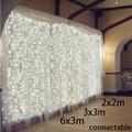 2x2m/3x3m/6x3m connectable outdoor led wedding string fairy light 300 led xmas Christmas light fairy garden party garland decor