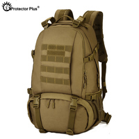 PROTECTOR PLUS Military Molle Backpack CF Game Mountaineer Backpacks Sport Army Outdoor Travel 40L High Capacity Hunting Bag