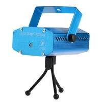 Mini 6 Patterns Laser Stage Lights LED R G Lighting Xmas Party KTV DJ Disco