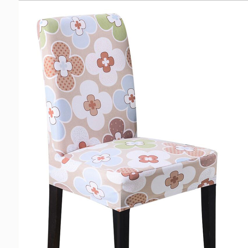 Floral Printing Chair Cover Spandex Dining Seat Case Stretch Wedding Party Slipcover Housse de Chaise
