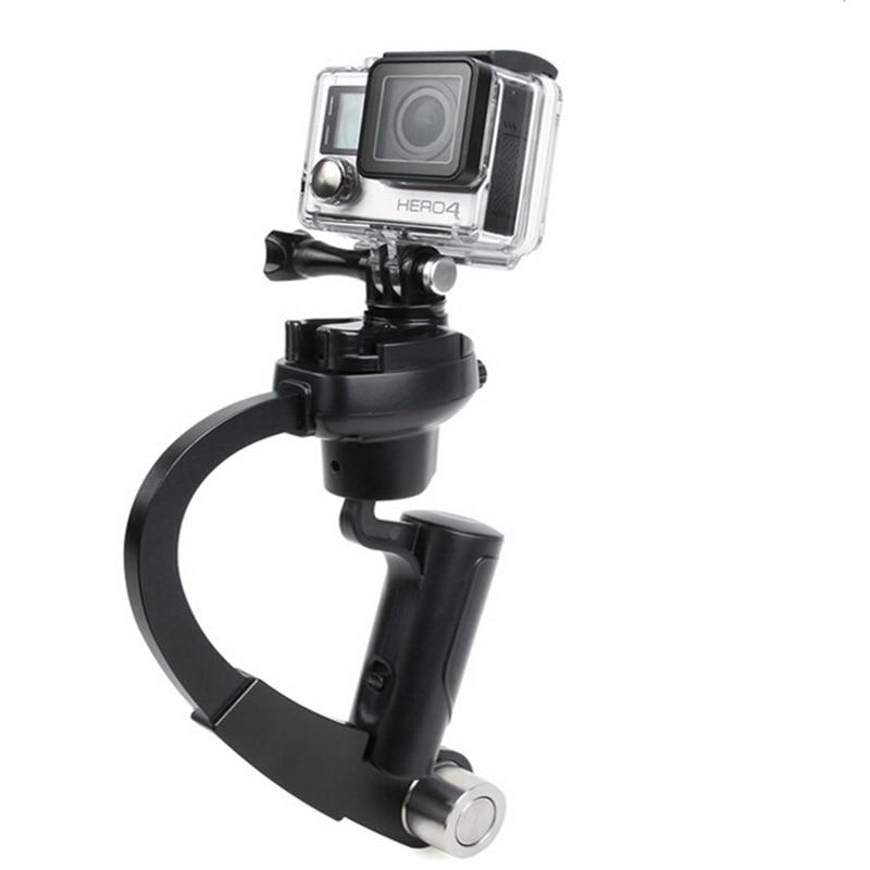 Cámara steadycam hendheld DV video steadicam estabilizador arco forma mini trípode para Go Pro 5 4 3 3 + SJ 4000 sj5000 xiaomi Yi