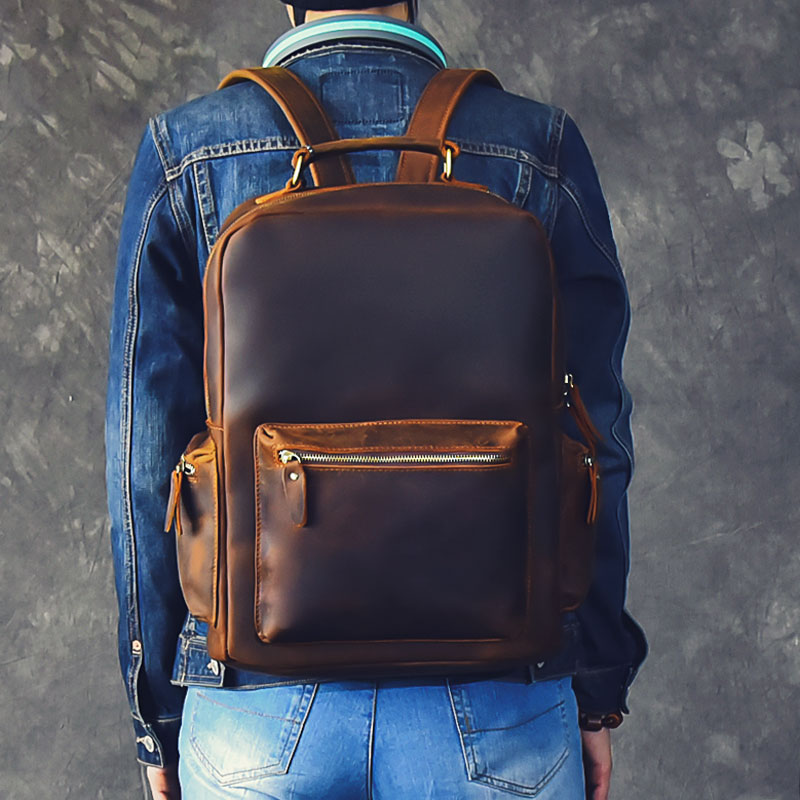 aya leather backpack