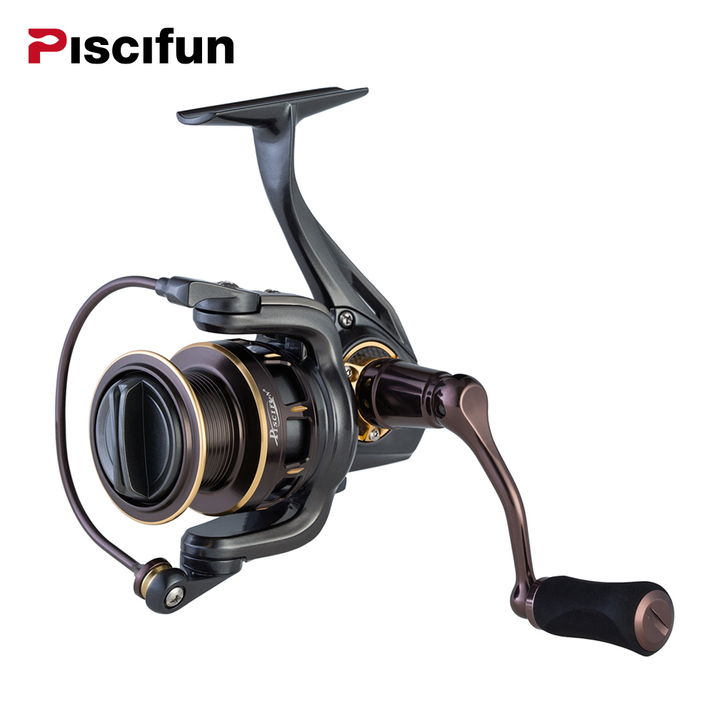 Pisicifun Stone Fishing Reel Super Powerful 11.3kg Drag 5.2:1 10BBs Spinning Saltwater Aluminum Alloy Spin Fishing Spinning Reel ad822brz reel