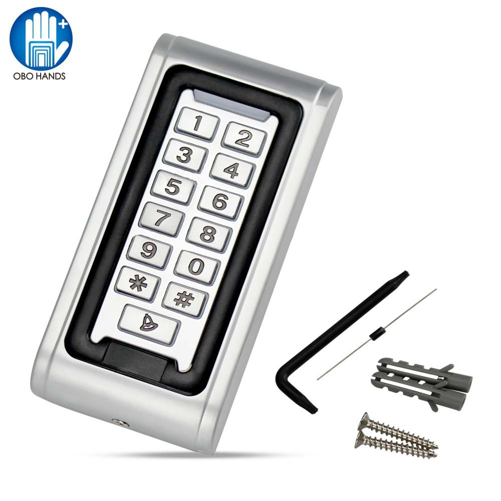 Metal IP68 Waterproof Access Controller Backlight Digital Keypad Proximity RFID 125KHz/13.56MHz with WG26 Output lpsecurity 125khz id em or 13 56mhz rfid metal door lock access controller with digital backlit keypad ip65 waterproof