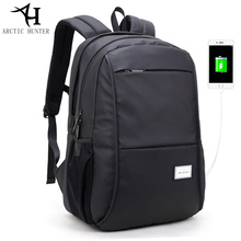 ARCTIC HUNTER Business Casual travel men laptop backpack waterproof Large capacity USB Backpack 15.6 Inch black back pack 20005