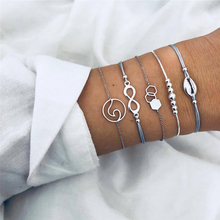 Summer simple fashion bohemian bracelet retro shell geometric pattern temperament female bracelet jewelry adjustable decoration pdrh030 female retro bracelet