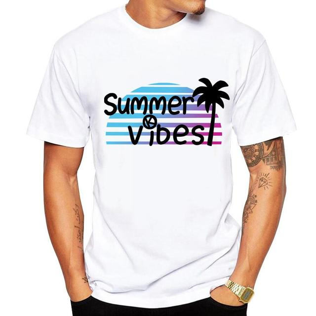 Casual men's t-shirt new short-sleeved Summer Retro Style Synthwave 4