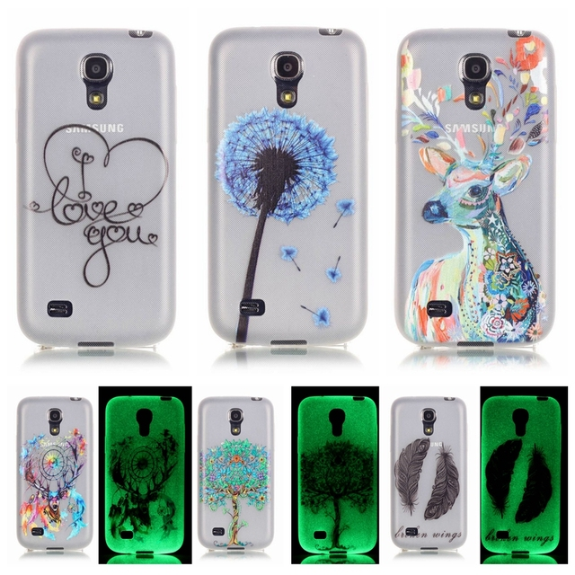 Luminous Case sFor Coque Samsung Galaxy S4 mini case For Samsung S4 mini i9190 I9195 Soft TPU Silicone Cell Phone Back Cover