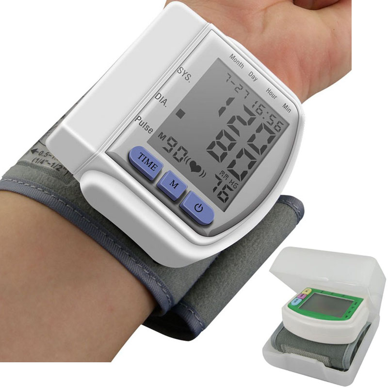 Pressure-Monitor-Meter Tonometer Pulse-Rate Wrist-Blood Heart-Beat Measuring Cuff Digital