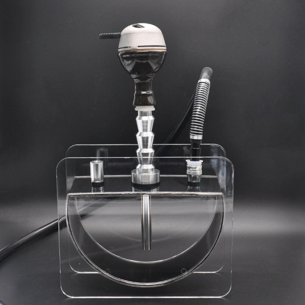 Narguilé acrylique Chicha Set narguilé narguilé fumer Pipe à eau avec narguilé bol Shisha tuyau Chicha Sheesha accessoires