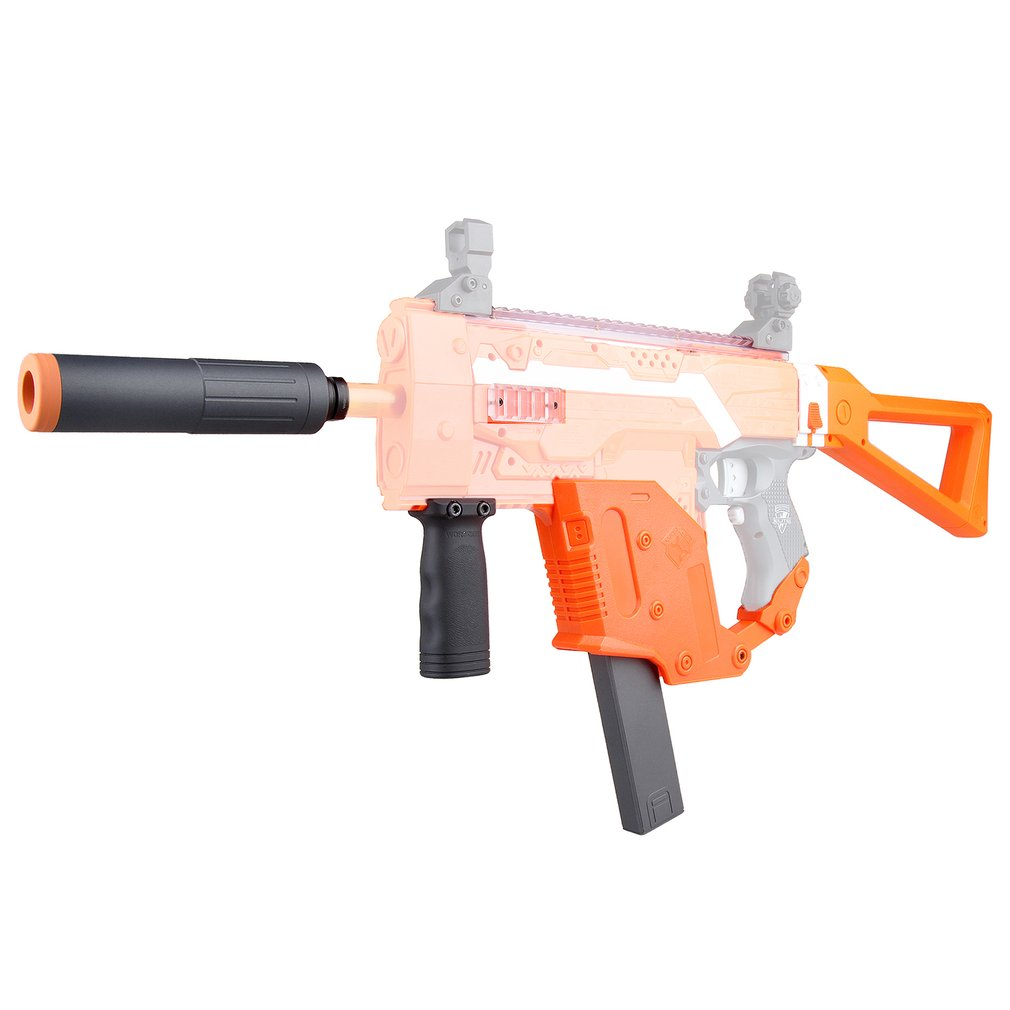 WORKER Easy Installation MOD Orange Kriss Vector Imitation Kit 12 Items for Nerf STRYFE Modify Gun Toys Gift for Game Players