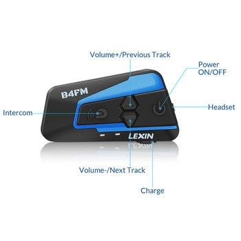 Batería Para Moto | Lexin 1pieza LX- B4FM Intercomunicadores De Casco Moto Bluetooth Para 4 Personas Hablando Al Mismo Tiempo Con Sonido Fuerte De Calidad Alto,Manos Libres/ FM Radio/Universal/Compatible Con Otra Marca Intercom
