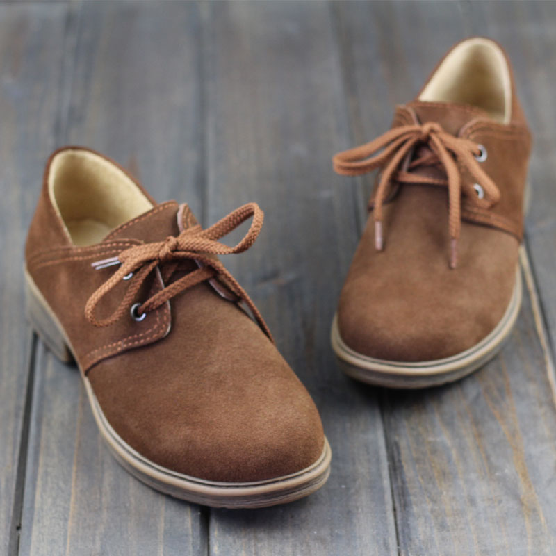 где купить OhAnna Shoes Women Oxfords Shoes Brown Leather Flat Shoes Round toe Lace up Women Flats 2017 Female Spring/Autumn Footwear (1701 дешево