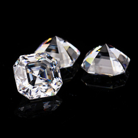Starsgem Moissanit diamond clear white color EF 10*10mm Asscher cut moissanites loose gems stones for jewelry making