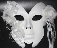 021366 Venice Mask Masquerade Party Props Birthday Present Face Masks Halloween Mask Half White Face