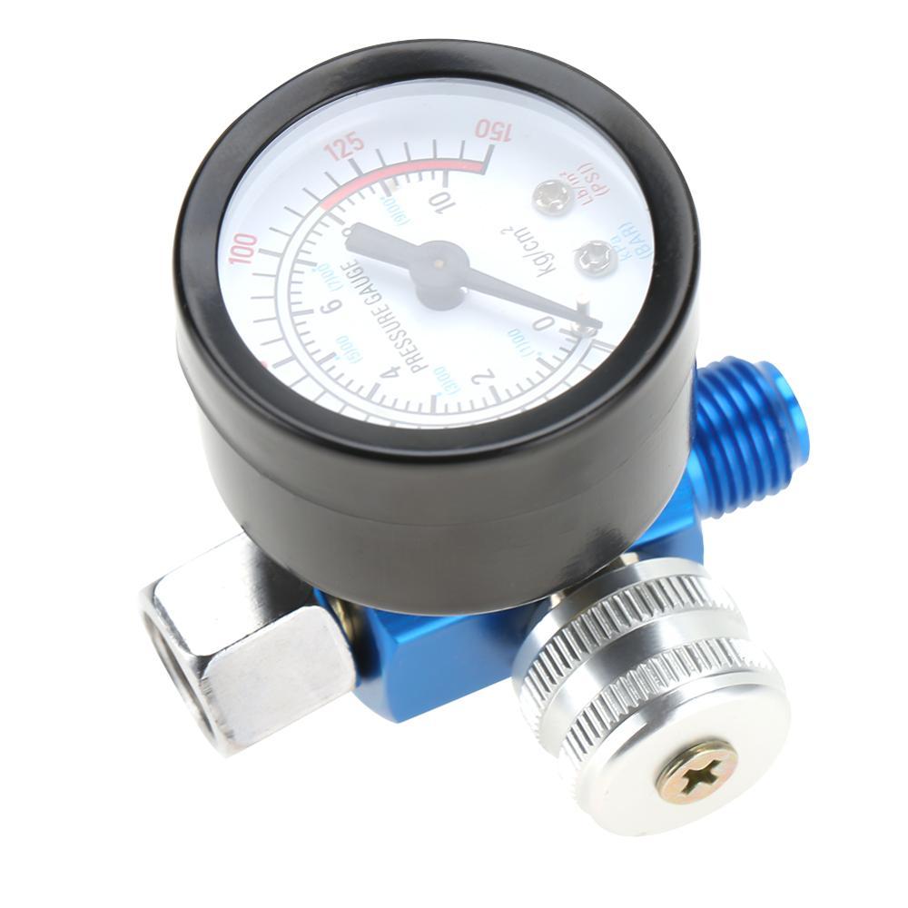"""1/4 """"мини Регулятор воздуха клапан спрей краска давление воздуха В пистолете регулятор манометр пневматическая насадка для распылителя инструмент доступа Манометры      АлиЭкспресс"""