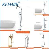 KEMAIDI Good Quality WELS And CUPC Bathroom Floor Standing Bath Tub Faucet Mixer Set Hand Held
