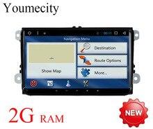 Восьмиядерный Android 7.1 для Volkswagen VW GPS Радио passat b5 b6 b7 поло Touran Гольф 5 6 Caddy Jetta tiguan головного устройства dvd-плеер