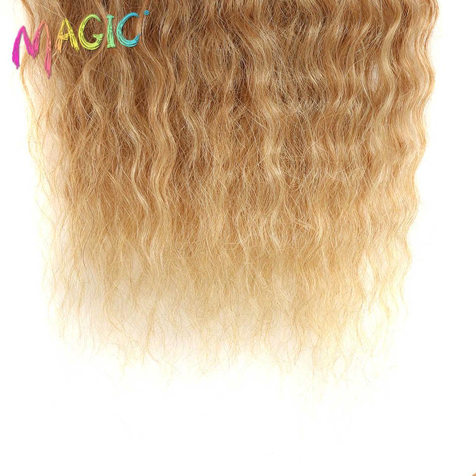"""Magic Diepe Krullend Synthetisch Haar Weave Diepe Golf Haar Bundels 28 """"30"""" 32 """"Inch Ombre Kleur Twee tone Krullend Haar Uitbreiding 120G"""