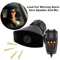 New Portable 5 Sound Loud Car Warning Alarm Police Fire Siren Horn PA Speaker MIC System