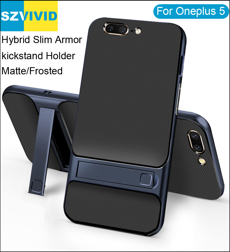 Stand Holder Kickstand Case for Oneplus 5 5T Hybrid Slim Armor Protector Cover