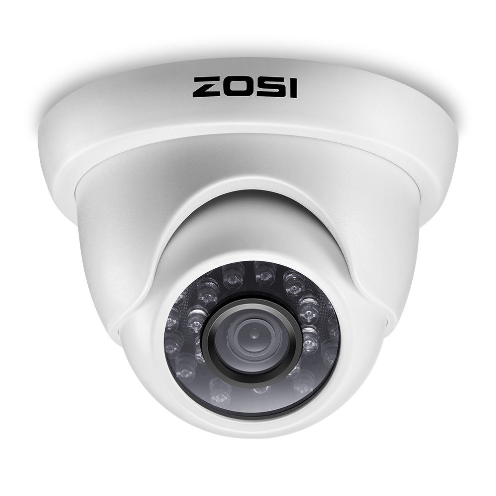 ZOSI 1080P HD-TVI 2.0MP CCTV Dome Camera Home Security System 65ft Night Vision Waterproof for 1080P HD-TVI DVR Systems zosi tvi hd 8ch 8pcs 2 0mp 1080p cctv security system day night waterproof ir camera alarm systems security home diy 2tb kit